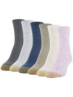 Women's Lola Ribbed Short Crew Socks, 6 Pairs