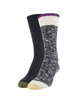 Womens Willow Creek Crew Socks, 2 Pairs