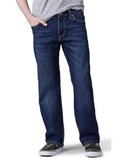 Boys' Straight Fit Straight Leg Performance Comfort Stretch Pants