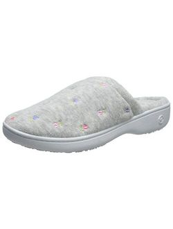 Women's Signature Terry Floral-embroidered Slipper