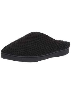 Women's Textured Microterry Low Back Slippers With Memory Foam
