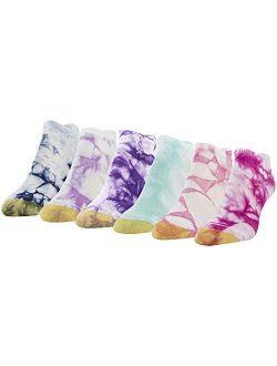 Women's Tie Dye Liners, 6 Pairs
