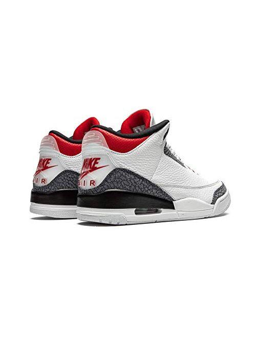 Air Jordan Jordan Air 3 Retro Se DNM Fire Red Mens Cz6431 100 - Size