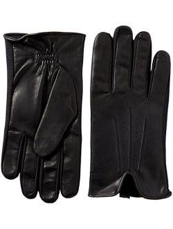 Men's Smartouch Stretch Glove With Leather Palm, Black Large