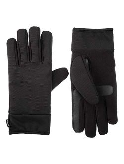 Men's Tech Stretch Touchscreen Texting Double Lined Cold Weather Gloves With Water Repellent Technology