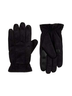 Men's Microfiber Touchscreen Texting Warm Lined Cold Weather Gloves With Water Repellent Technology