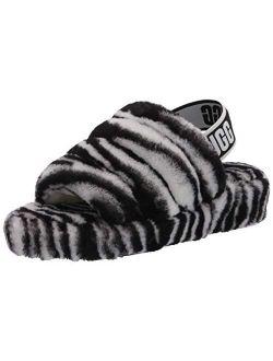 Women's Fluff Yeah Slide Zebra Slipper