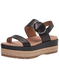 April Leather Espadrille Platform Sandals