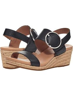 Women's Navee Espadrille Round Toe Ankle Strap Wedge Sandal