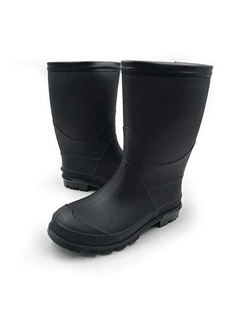 Amoji Kids Rain Shoes Easy On Rubber Rain Boots (Toddler/Little Kid/Big Kid)