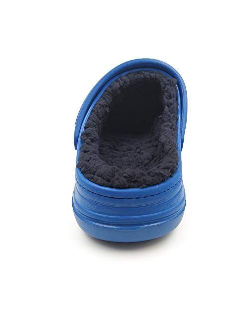 Amoji Winter Fleece Clog Fur Lined House Slippers D8818