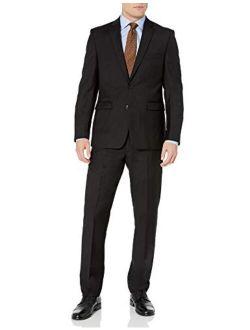 Men's Two Button Slim Fit Solid Suit