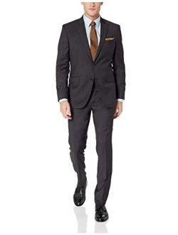 "New York Men's Travel Ready Wool 32"" Finished Bottom Hem Suit"
