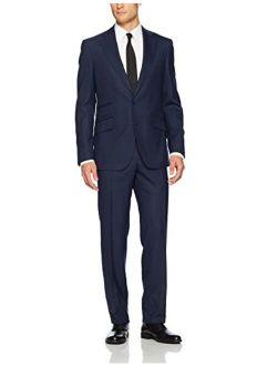 Men's Heams Modern Fit 2 Button Notch Lapel Side Vent Suit