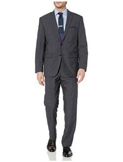 Men's Two Button Modern Fit Pinstripe Suit