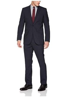 New York Men's Slim Fit 2 Button Wool Stretch Suit