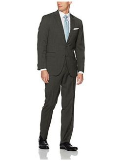 New York Men's Slim Fit Solid Suit