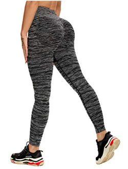 Women High Waisted Yoga Pants Seamless Stretch Workout Leggings Butt Lift Tummy Control