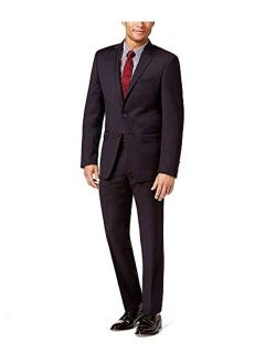 Mens Textured Two Button Formal Suit