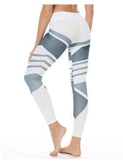 Printed High Waist Yoga Leggings For Women.