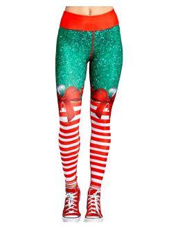 Women's Christmas Printed Yoga Leggings.