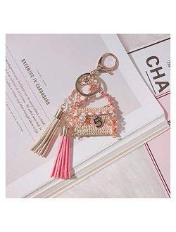Fuxwlgs Keychain Creative Beautiful Bag Keychains Delicate Bag Key Chain