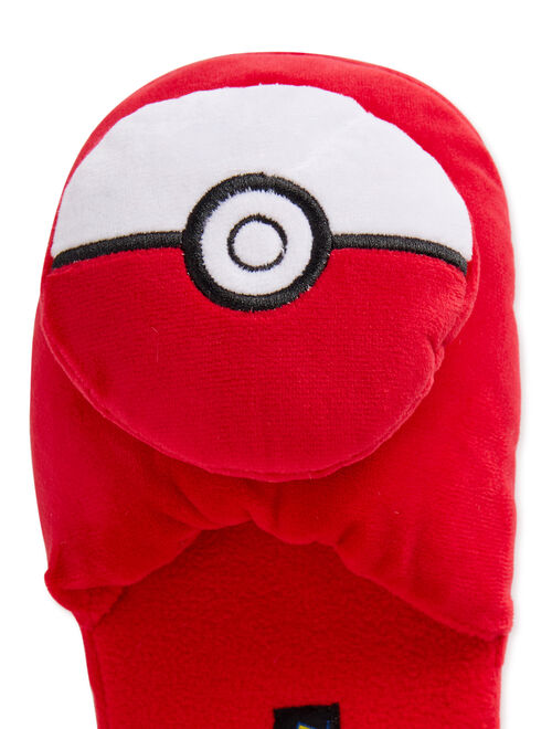 Boys Pokeball Boys Scuff Slippers W/ 3D Plush and Free Shoe Gift Box (Little Boys & Big Boys)