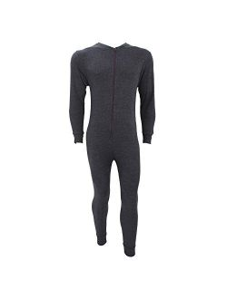 Floso Men's Thermal Underwear All in One Union Suit with Rear Flap