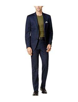Mens Slim-fit Two Button Formal Suit