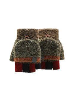 No-Branded Yllanmg Unisex Warm Soft Winter Convertible Flip Top Fingerless Glove Mittens