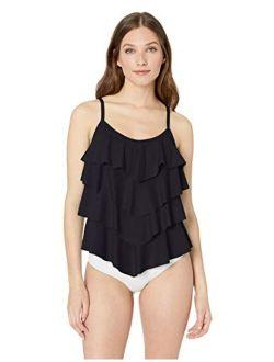 Women's Tiered Multi Ruffle Tankini Swimsuit