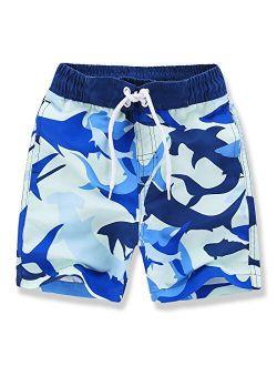Kute 'n' Koo Boys Swim Trunks, UPF 50+ Quick Dry Boys Swim Shorts, Toddlers Swim Trunks Size from 2T to 18/20