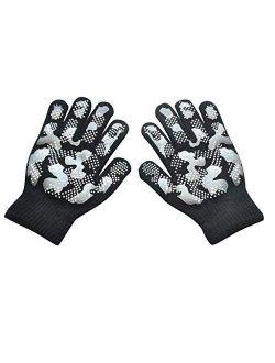 No-branded Kids Winter Gloves Children Winter Warm Knitted Wapiti Camouflage Print Screen Cute Gloves SZMAABBC