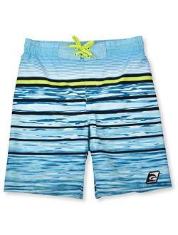 Laguna Boys Wave Print Swim Trunks with UPF 50, Sizes 8-20