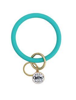 Bangle Silicone Key Ring Bracelet Best Mom Nana Keychain Bracelet Free Hands Keyring Gifts For Mother Grandma