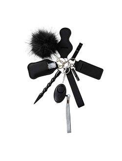 Tasmtto Self Defense Wristlet Keychain Set Women Hand Sanitizer Holder Keychain