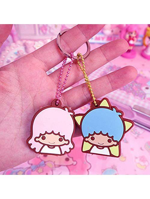 Kerr's Choice Little Twin Stars Key Chain Key Cover Key Caps Bag Accessories Sanrio Gift Keychain - Little Twin Stars