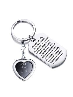 PLITI Sympathy Gift I Thought of You Today But That is Nothing New Sympathy Keychain God Has You in His Arms I Have You in My Heart Memorial Gifts for Loss of Loved One