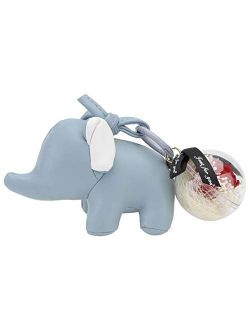 VALICLUD Elephant Keychain with Everlasting Flower Keyring Purse Pendant Handbag Charm Car Bag Keychain Charm for Girlfriend Couple Lover