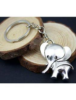 WYSIWYG 3 Pieces Key Chain Women Key Rings Couple Keychain for Keys Elephant 37x31mm