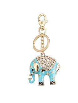 key chain Cute Sky Blue Elephant Wallet Keychain Birthday Party Gift
