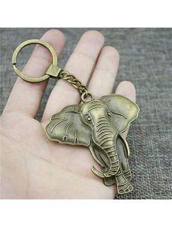 Xunsdzsw Key Holder Metal Elephant Keychain Statue Key Chain Pendant Charms Women Jewelry Cute Keychain for Keys Jewelry Gift (Color : Light Blue)