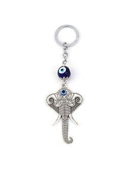 Elephant Keychain Evil Eye Animal Charms Car Keychain For Women Men Fashion Jewelry