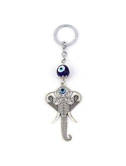 Keychains Elephant Keychain Evil Eye Animal Charms Car Keychain For Women Men Fashion Jewelry Ey1146