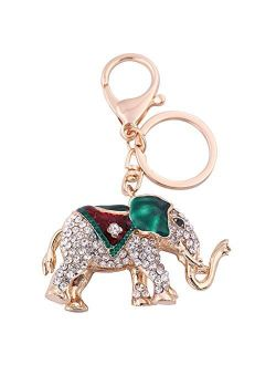 Key Chains - Skyrim New Fashion Thailand Elephant Carriage Cartoon Keychain Metal Custom Shaped Metal Silver Painted for Women Girl Gift - by Mct12-1 PCs