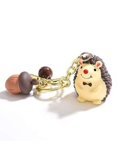 JZYZSNLB Keychain Small Keychain Cute Key Ring Car Bag Exquisite Small Pendant Couple Keychain (Color : Purple)