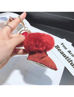 JZYZSNLB Keychain 2021 Women's Car Keyring Charm Bag Holder Ornaments Pendant Keychain (Color : Green)