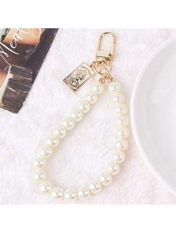JZYZSNLB Keychain New Creative Ancient Coin Pearl Keychain for Women Ladies Bag Pendant Accessories (Color : 1)