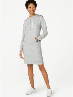 Women's Fleece Hoodie Dress With Drop Shoulders