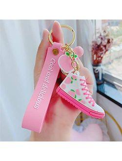 Mini PVC Shoes Keychains Bag Charm Woman Men Kids Key chain Key Holder Gift Chic Sneaker Key Ring
